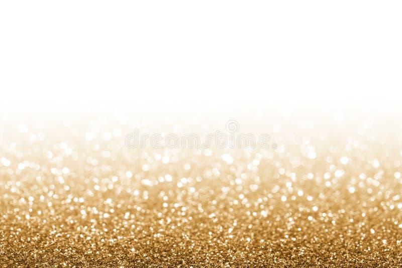 金黄的闪烁 库存照片