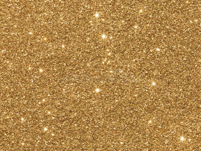 金黄的闪烁 免版税库存照片