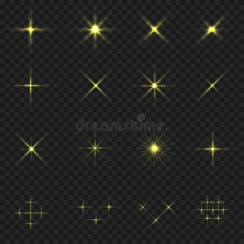 金黄眨眼象 向量例证