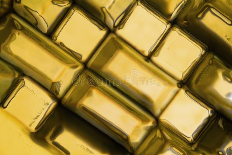 金黄砖纹理 库存图片