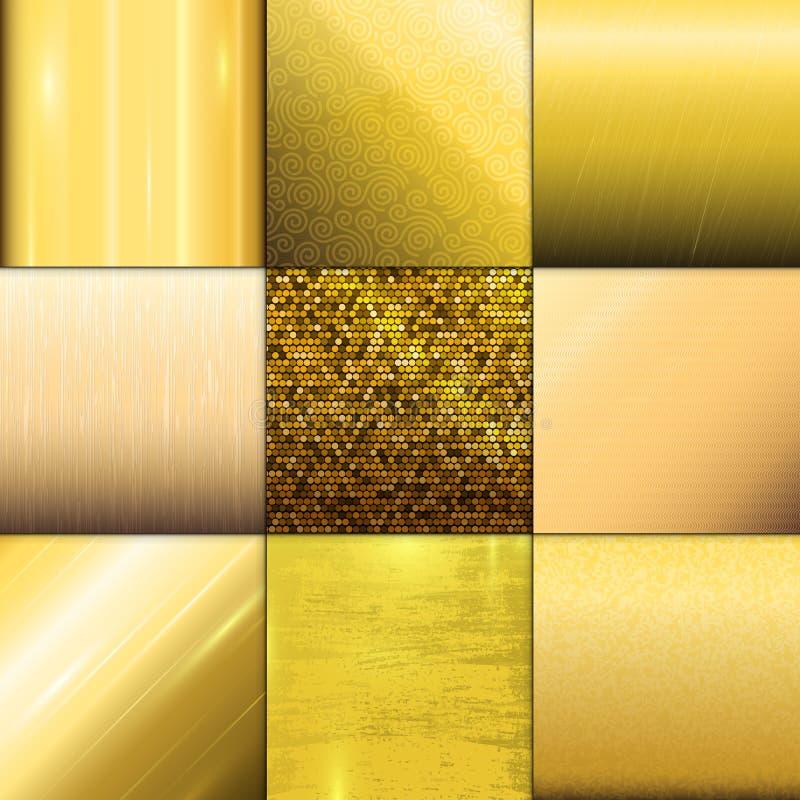 金黄纹理样式传染媒介模板 皇族释放例证