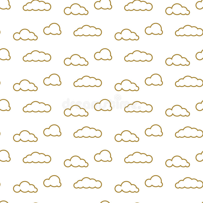 金黄线覆盖传染媒介无缝的样式 纺织品的密集的天空印刷品 皇族释放例证