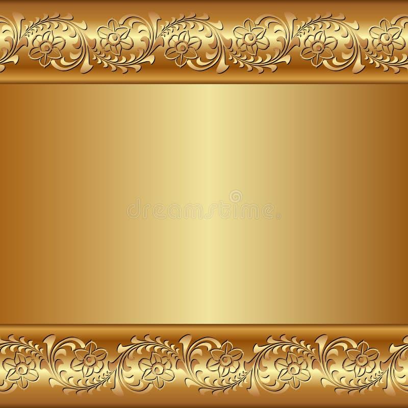 金黄背景 皇族释放例证