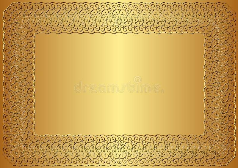 金黄背景 向量例证