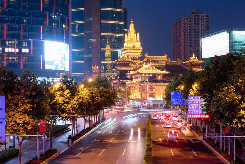 金黄荆山`寺庙,上海中国 免版税库存图片