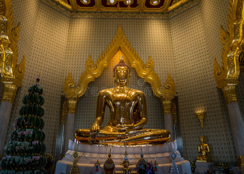 金黄菩萨,曼谷,泰国 免版税库存照片