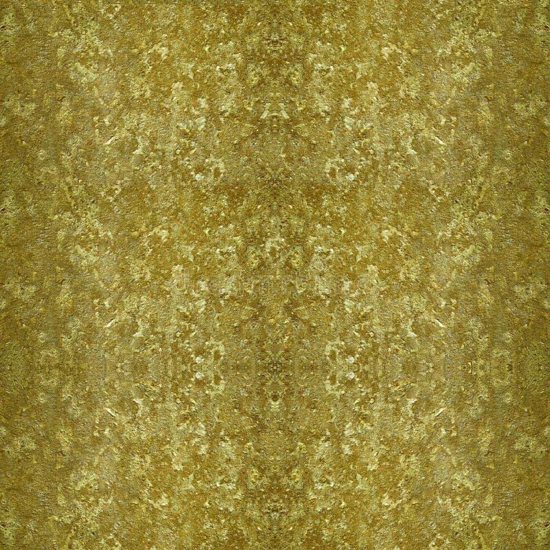 金黄葡萄酒脏的金属纹理 免版税库存照片