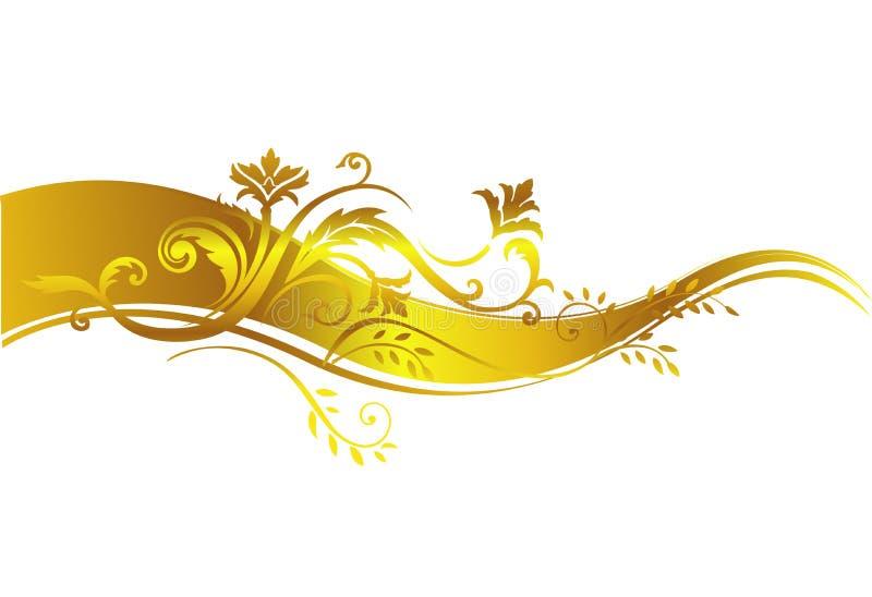 金黄豪华设计元素 向量例证