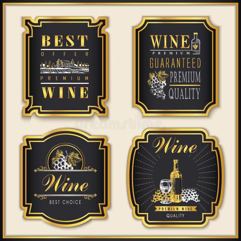 金黄酿酒厂标签 向量例证