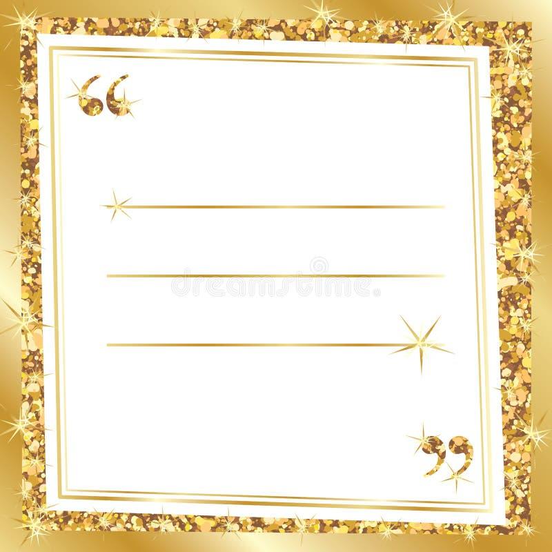 金黄闪烁行情模板 库存例证