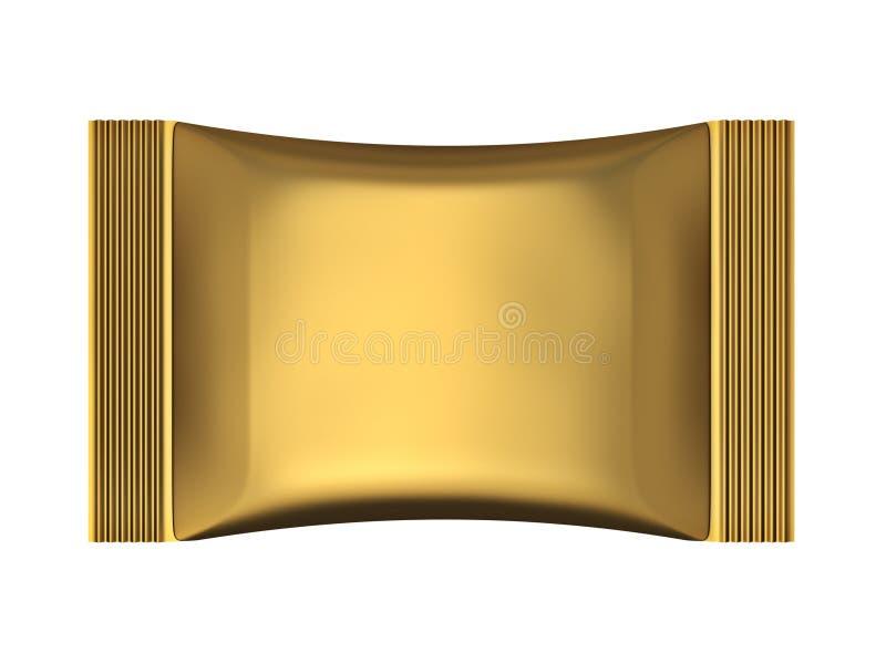 金黄香囊袋子包裹 皇族释放例证