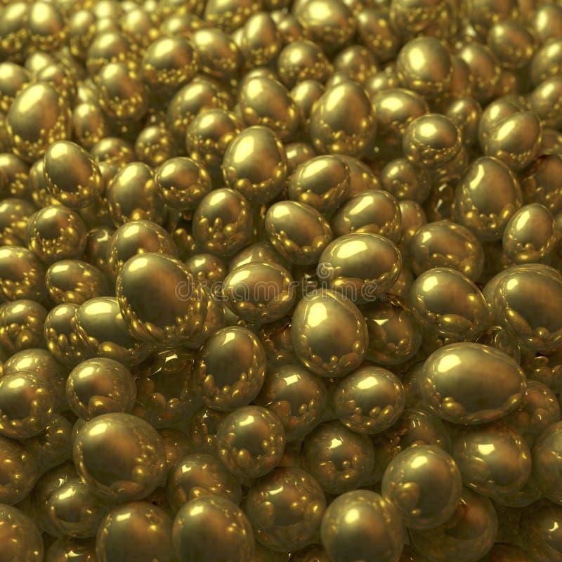 金黄鸡蛋堆  向量例证