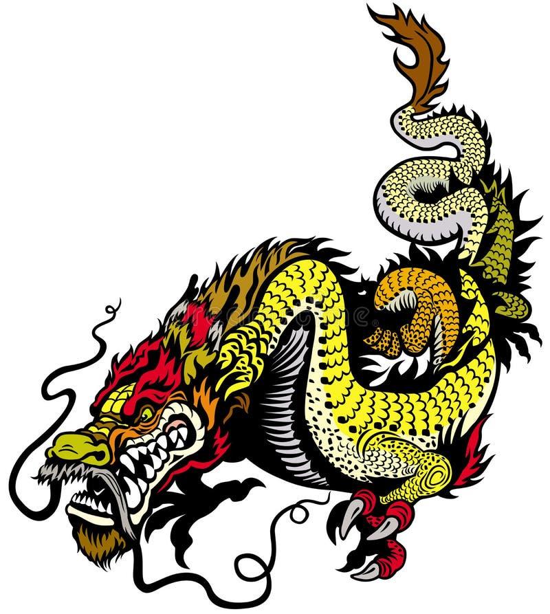 金黄龙 皇族释放例证