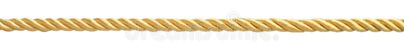 金黄绳索 库存图片