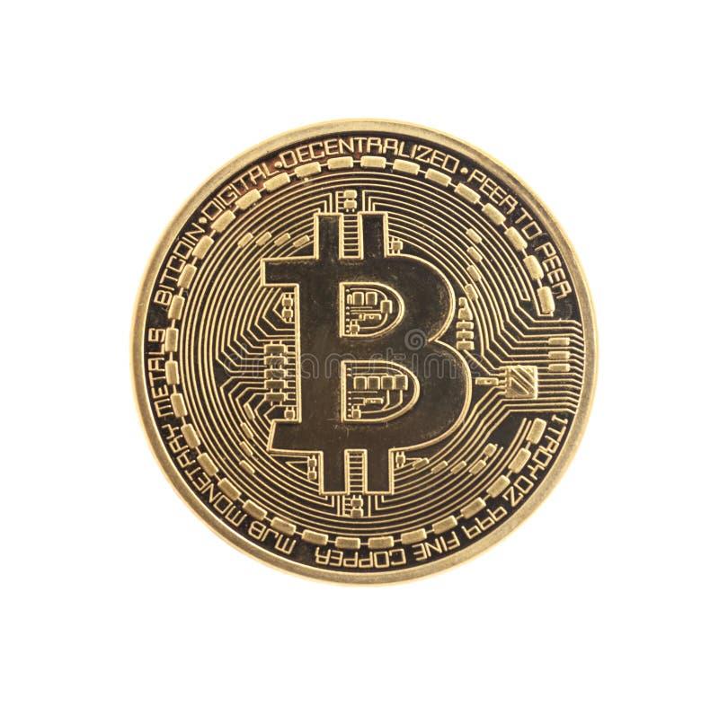 金黄Bitcoin硬币 免版税图库摄影