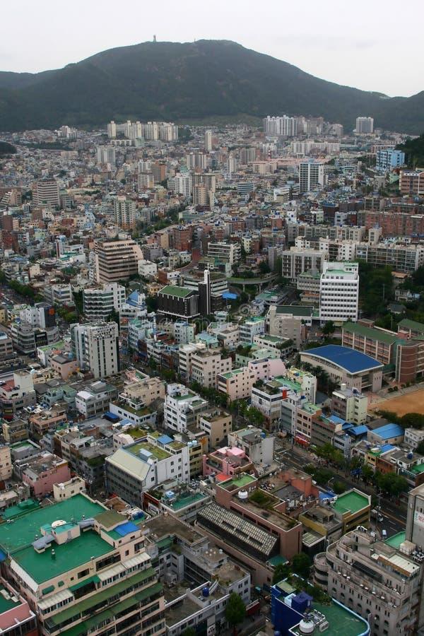 釜山市端口 免版税图库摄影