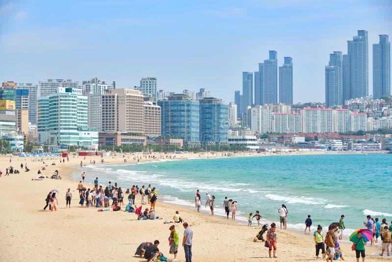 Download 釜山,韩国- 2015年9月19日:Haeundae海滩风景 编辑类库存照片 - 图片 包括有 韩国, 本质: 62530223