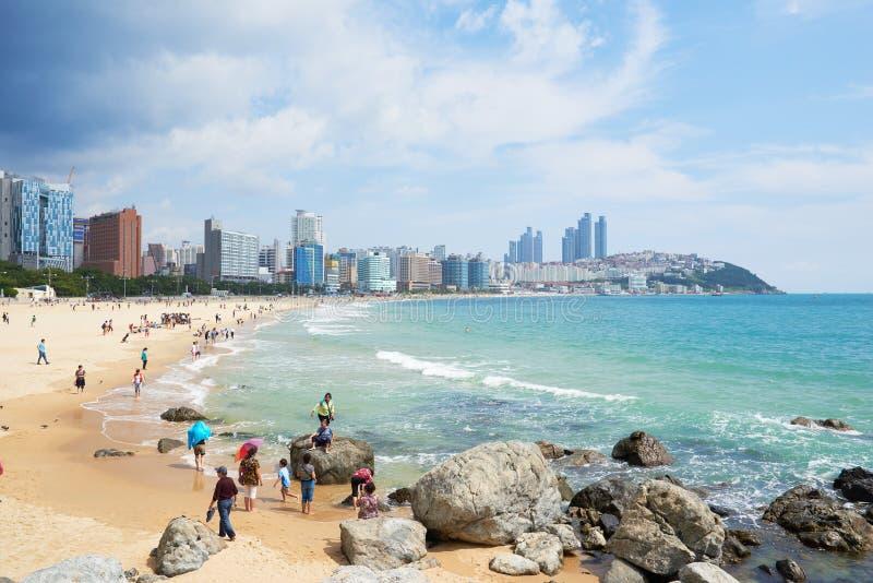 Download 釜山,韩国- 2015年9月19日:Haeundae海滩风景 编辑类图片 - 图片 包括有 云彩, 釜山: 62530230