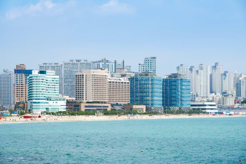 Download 釜山,韩国- 2015年9月19日:Haeundae海滩风景 编辑类库存照片 - 图片 包括有 吸引力, 城市: 62530253