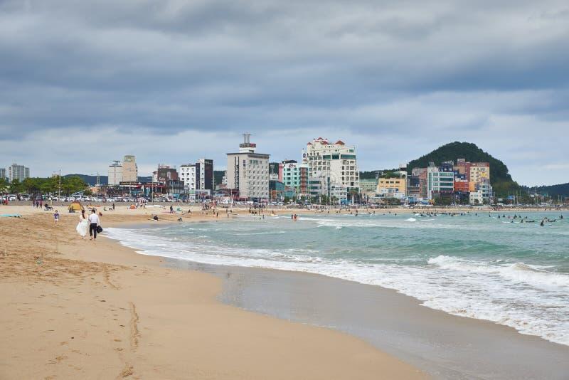 Download 釜山,韩国- 2015年9月19日:Songjeong海滩 编辑类图片 - 图片 包括有 釜山, 绿色: 62530305