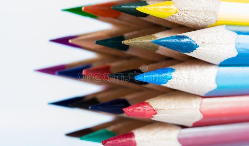 针对性的颜色铅笔 免版税库存照片