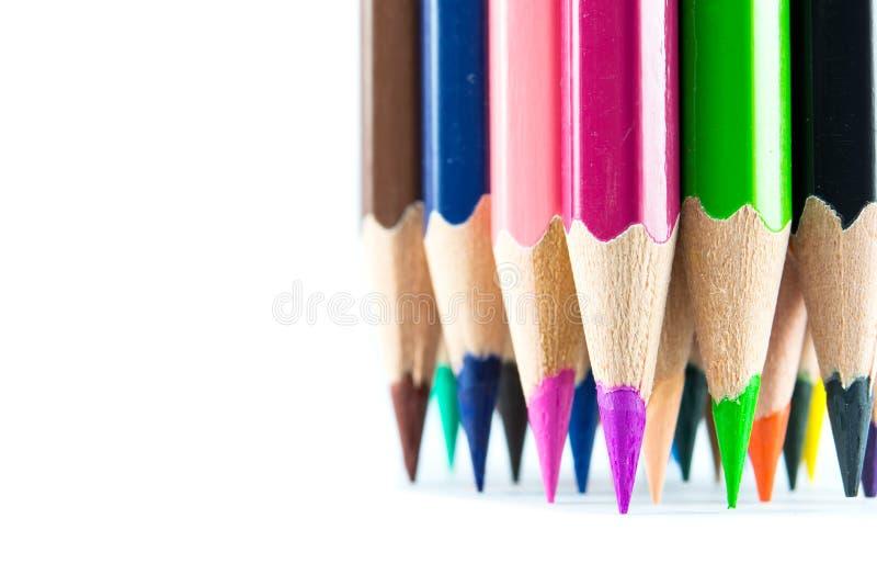 针对性的颜色铅笔 图库摄影