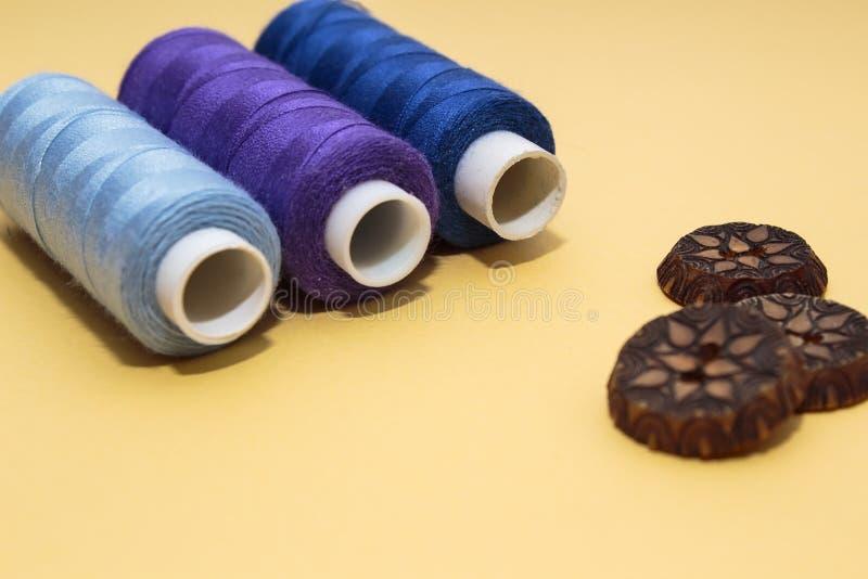 针线的概念,缝,刺绣 免版税图库摄影