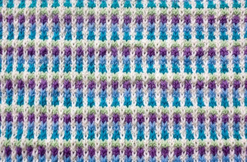 针织羊毛织构特写 免版税图库摄影