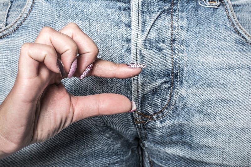 钉子牛仔裤艺术和纹理  免版税库存照片