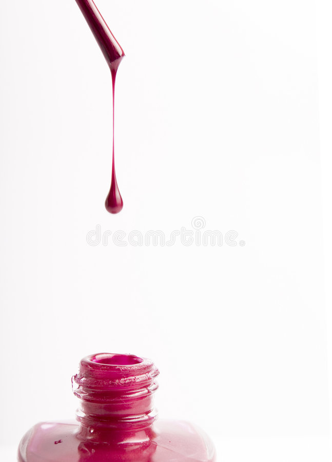 钉子粉红色波兰 图库摄影