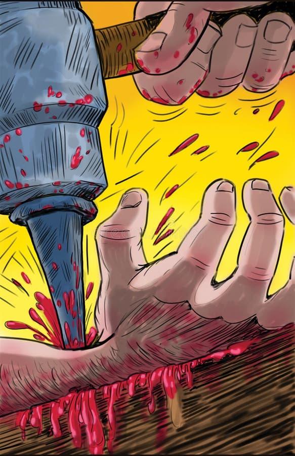 钉牢基督对十字架 免版税库存图片