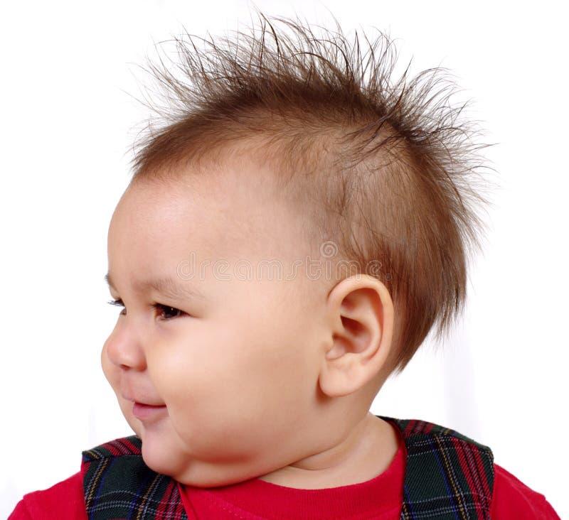 钉牢的头发孩子 库存图片