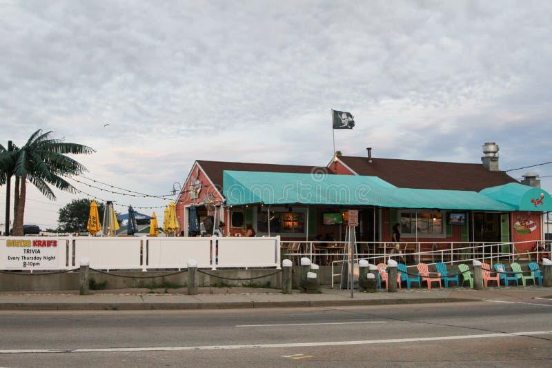 钉头切断机Krabs, Narragansett, RI 库存照片