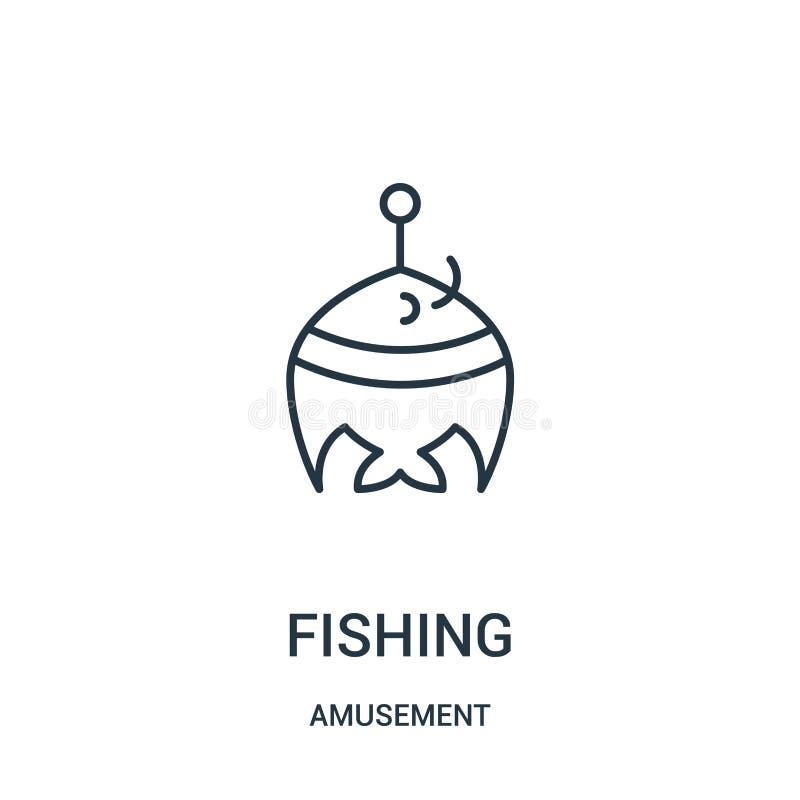 钓鱼从娱乐汇集的象传染媒介 钓鱼概述象传染媒介例证的稀薄的线 皇族释放例证
