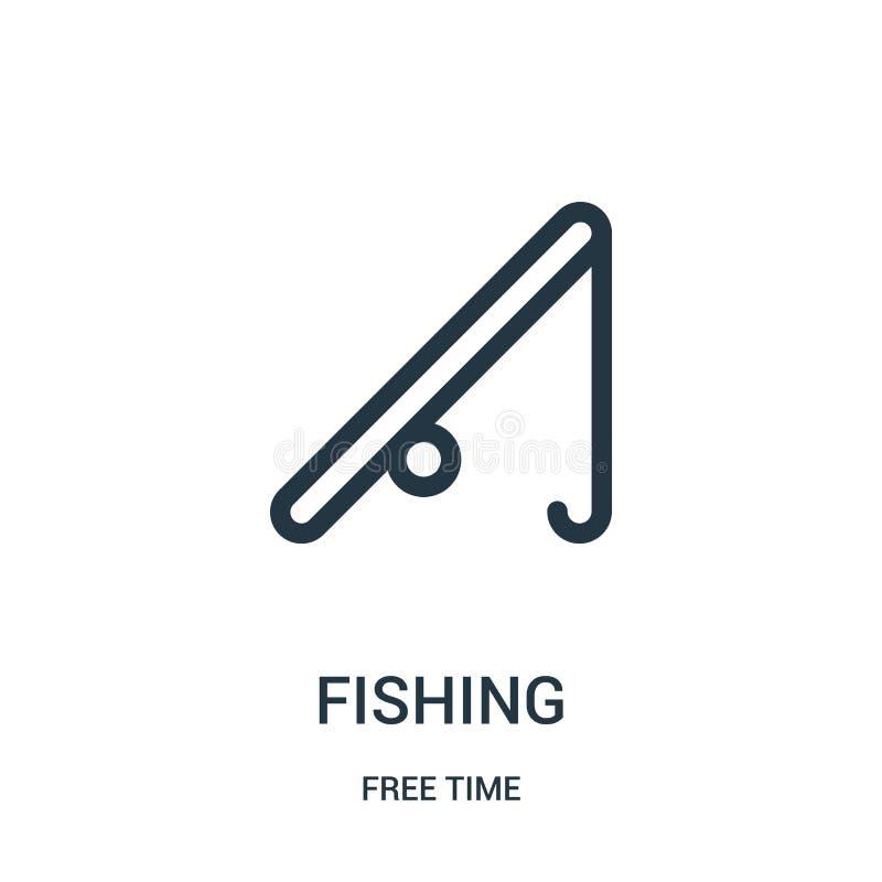 钓鱼从时间汇集的象传染媒介 钓鱼概述象传染媒介例证的稀薄的线 r 向量例证