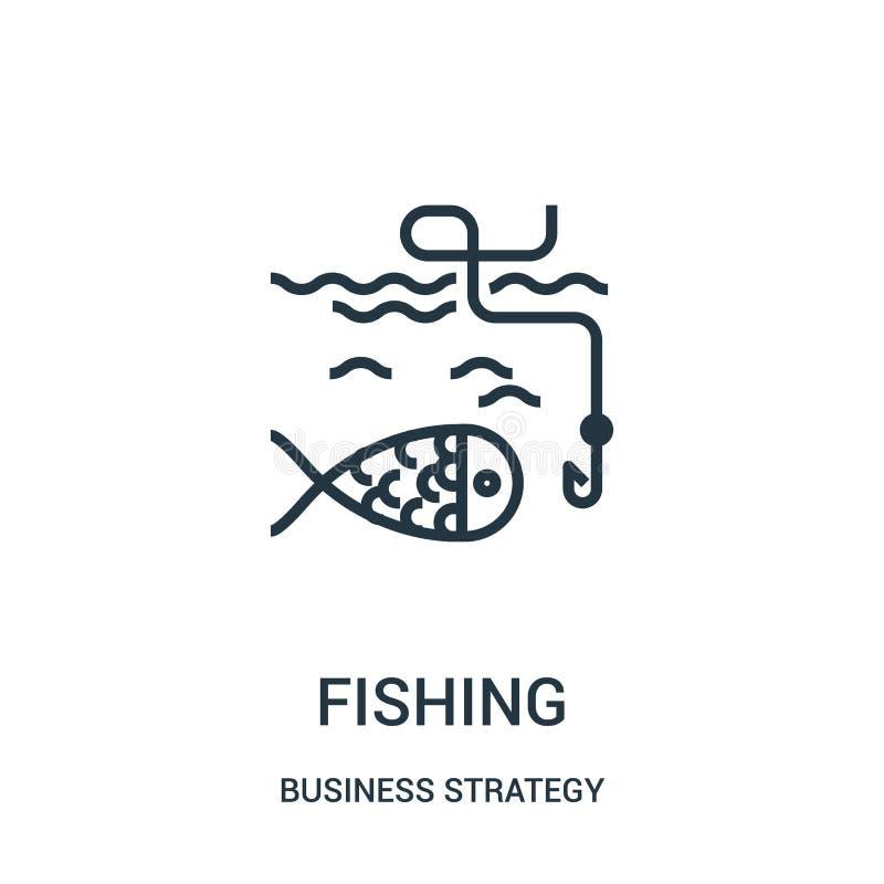 钓鱼从经营战略汇集的象传染媒介 钓鱼概述象传染媒介例证的稀薄的线 库存例证