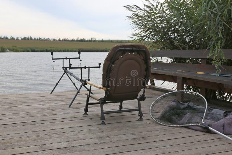 钓鱼准备好 库存图片