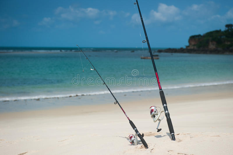 钓鱼在印度洋 库存图片
