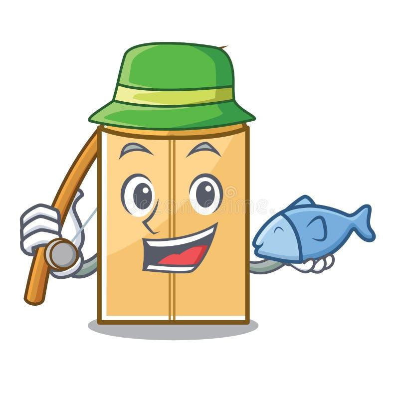 钓鱼在吉祥人壁橱的信封邮件 向量例证