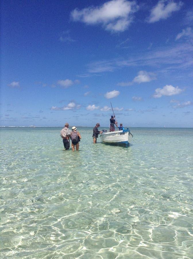 钓鱼在莫桑比克岛 库存图片