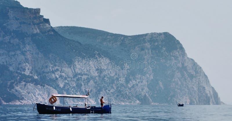 钓鱼在黑海 免版税库存图片