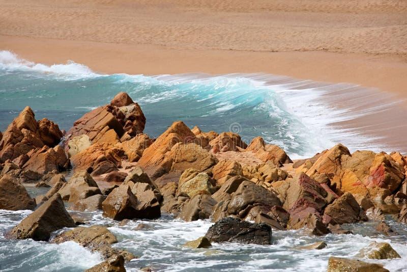 钓鱼地中海净海运金枪鱼的偏差 西班牙 免版税库存照片