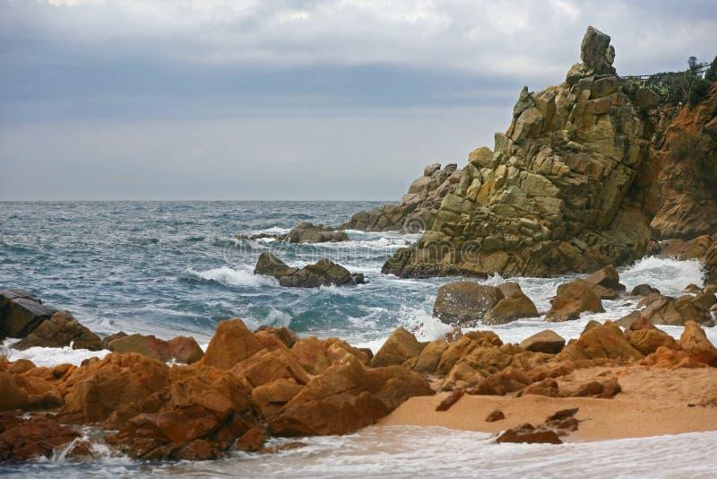 钓鱼地中海净海运金枪鱼的偏差 西班牙 库存照片