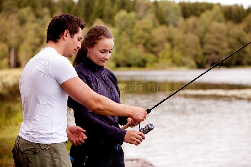 钓鱼教 库存图片