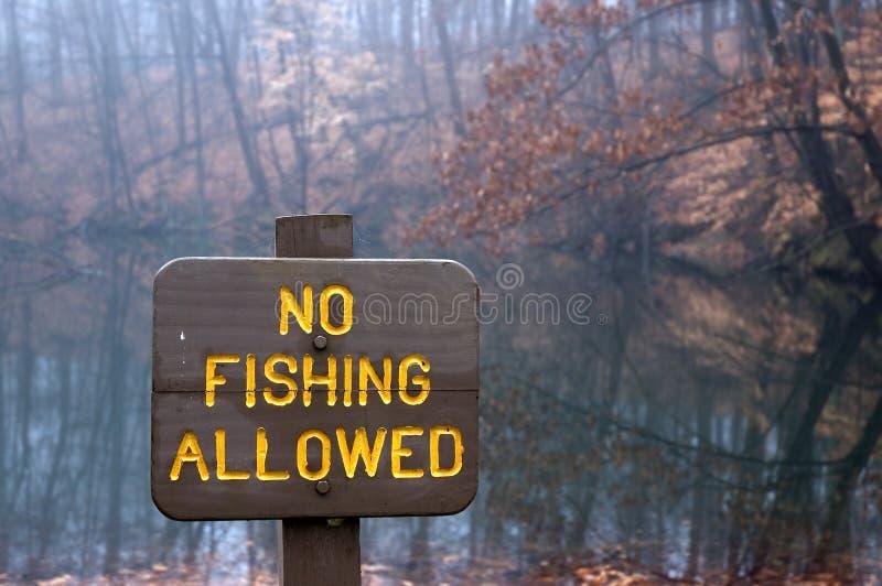 钓鱼没有 免版税库存图片
