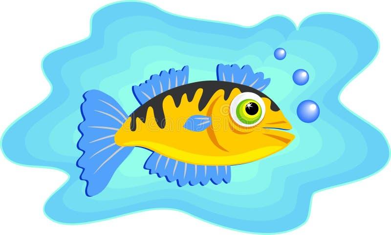 钓鱼海洋游泳 向量例证