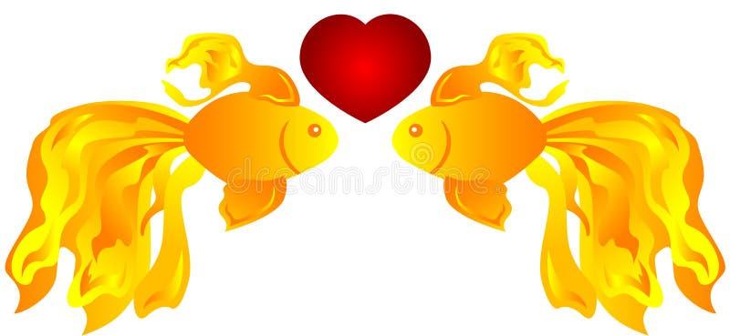 钓鱼爱 向量例证