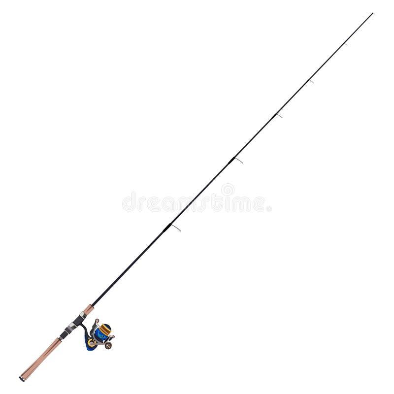 钓鱼竿传染媒介平的例证 向量例证