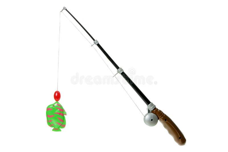 钓鱼竿玩具 免版税库存图片