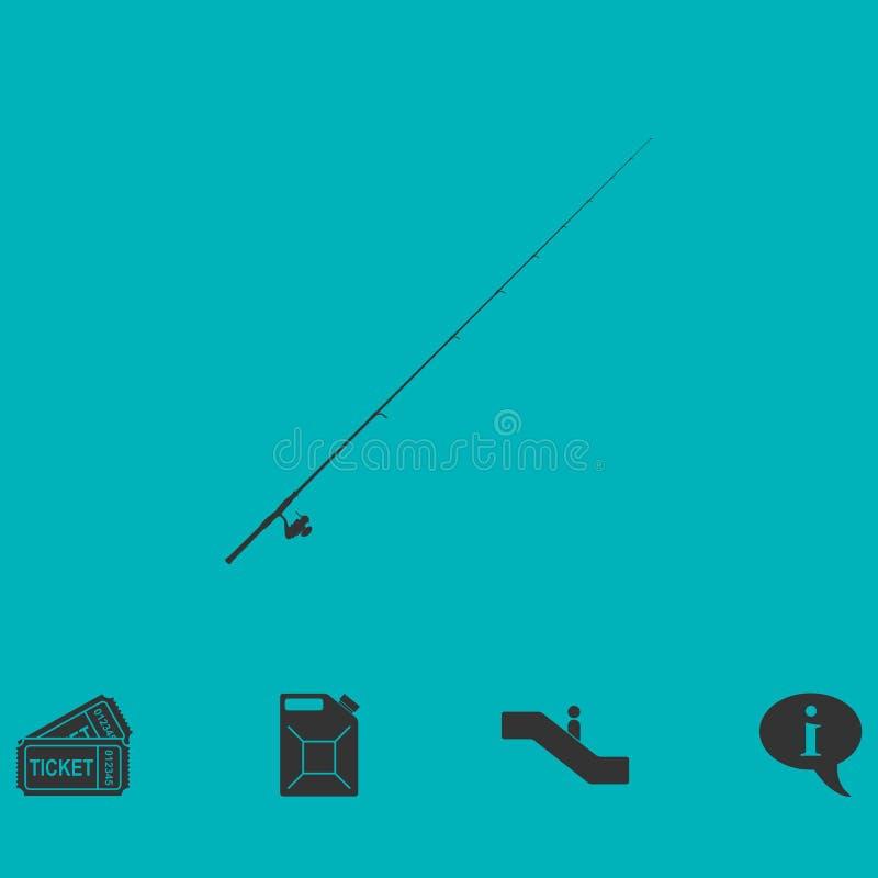 钓鱼竿象舱内甲板 向量例证